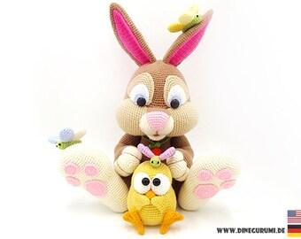 Rabbit XL crochet pattern amigurumi