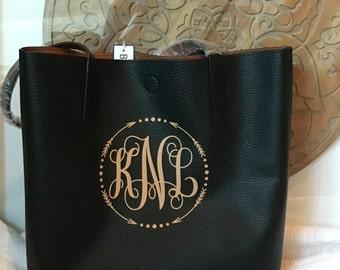 Reversible Monogrammed Bag
