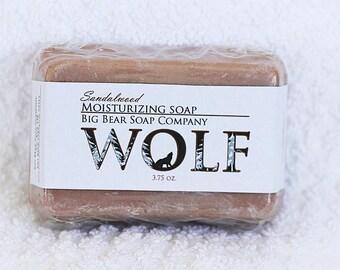 Wolf Sandalwood Moisturizing Soap 5ozs.