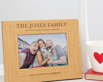 Family Picture Frame Personalized