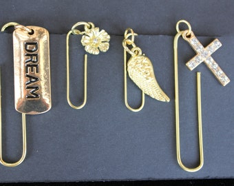 Travelers Notebook Paperclip Accessories, Charms and Bling, Junk Journal Gift Set.