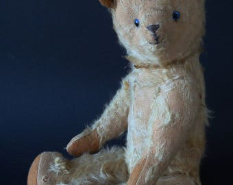 Antique mohair Teddy bear, antique teddy bear, French vintage