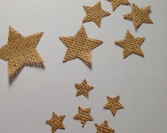 50 burlap star, Christmas decorration