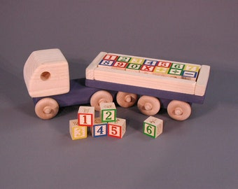 Wooden Jumbo Number Block Truck