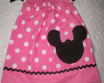Pillowcase Dress, Summer Dress, Disney, Hot Pink, Birthday, Gift, Girl Outfit, Children, Kids, Clothes, Minnie Mouse, Toddlers Dress