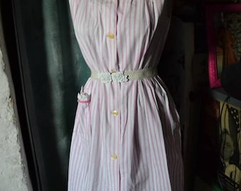 Vintage 60s dress. 100% cotton. XL