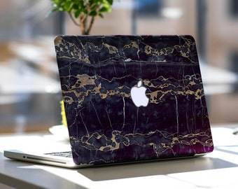 Black and Bronze Marble Texture Skin for Apple Macbook Air , Macbook Pro , New Macbook Pro 13 Touch , New Macbook Pro 15 Touch