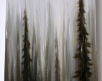 Rain Forest II - Original oil painting - Woods - PNW