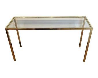 Vintage sofa table Etsy