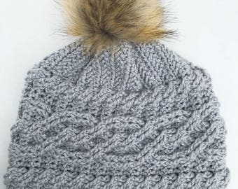 Lucy Cable Crochet Hat