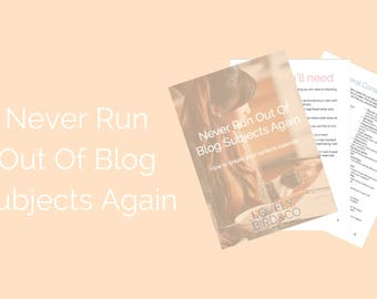 Never Run Out Of Blog Subjects Again: How To Create A Content Calendar // Ebook // Workbook // business // blogging // planner // blog