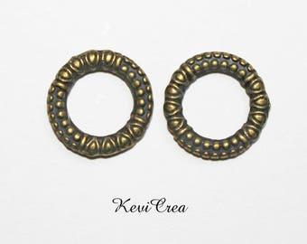 5 x bronze metal rings