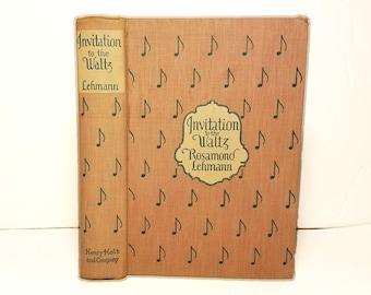Hollow Book Safe Invitation to the Waltz Music Dance Cloth Bound vintage Secret Compartment Box Hidden Security Box
