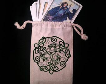 Celtic Hare Tarot Bag -  Pagan Wiccan  - Brigid Ashwood