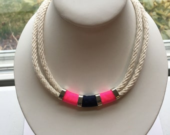 """17"""" nautical rope necklace"""