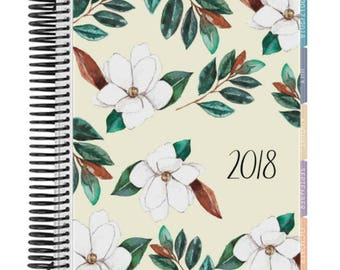 Magnolia Blooms Planner Cover