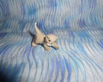 Miniature Bone China Kitty Cat   #D