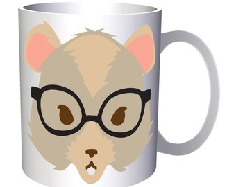 Hipster gerbil 11oz Mug w136