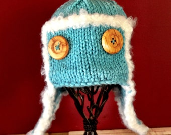 Aviator Hat - Made to Order - You Choose Color