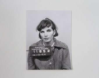 ELKA'S MUG SHOT   18x24 Screen Print of Vintage Photo