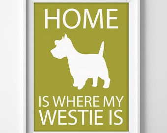 Westie Printable Custom Wall Art for Dog Mom