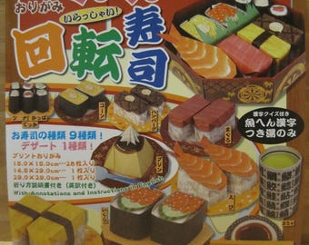 Real Sushi Origami, 9 kinds of Sushi and 1 Dessert, with English Instructions, Made in Japan