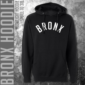New York Hardcore Hoodie - Men S M L XL 2x 3x - New York City Hoody, Sweatshirt, NYC, Brooklyn, Bronx, Queens, Music, Harlem - 4 Colors