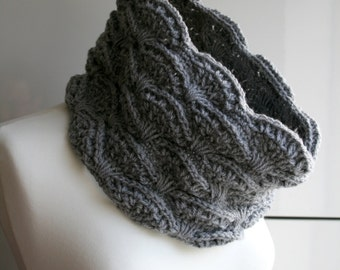 CROCHET PATTERN, Crochet scarf pattern, women men lace cowl pattern, scarf crochet pattern, crochet cowl pattern (126) Instant Download