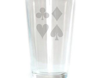 Pub Glass - 16oz - 6264 Suits of Cards