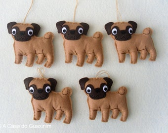 Party Favor - Pug - Set of 6