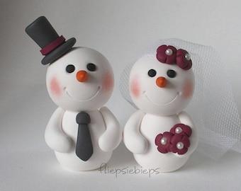 Snowman cake topper | Etsy