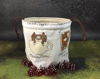 Coffee Cats Dice Bag