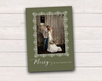 Merry -- customizable photo holiday card