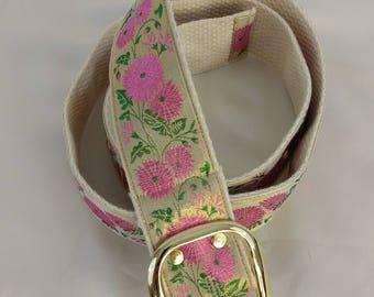 Metallic floral belt