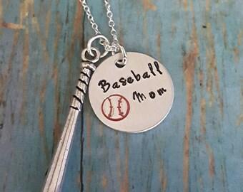 Baseball Mom Necklace - Baseball - Ball Mom - Sports - Sports Jewelry - Softball - Women's Jewelry - Baseball Fan - Team Sports - Mom