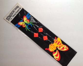 Fluorescent Colors Paper Insects Vintage 1970s Insects in Original Package