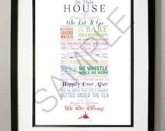 Disney Digital Word Art Print - Famous Phrases - A3 Full Colour