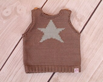 Baby child star retro vests