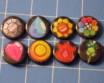 Set of 8 Pokemon Gym Badges - Indigo League
