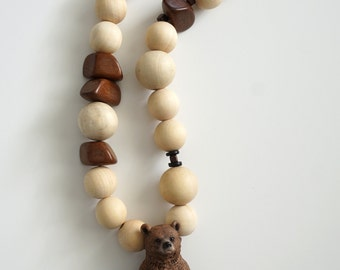 Grizzly Bear Beaded Garland