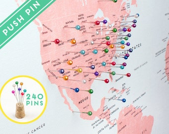 Push pin travel map etsy gumiabroncs Image collections