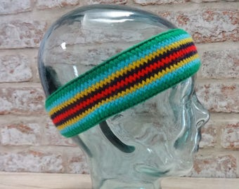 Retro 1980's headband Approx.42cm x 5cm Ski Winter