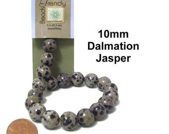 Dalmation Jasper Beads x 19