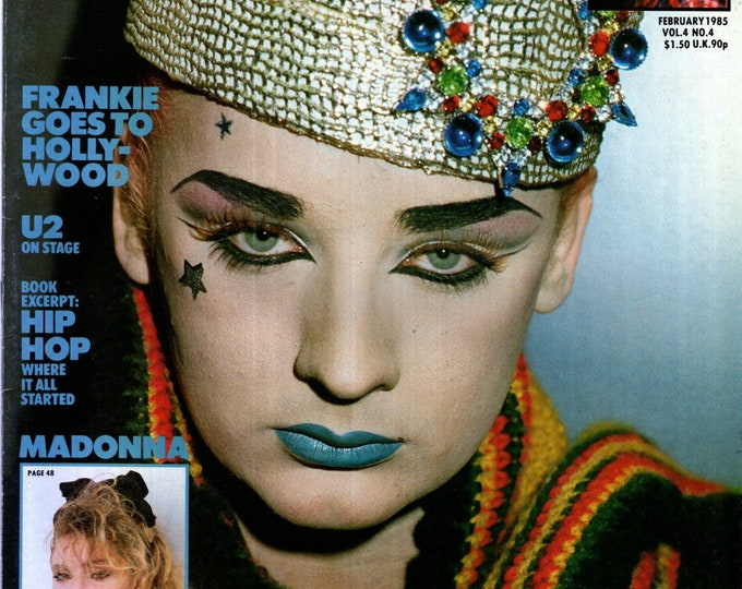 Record Magazine February 1985 Issue BOY GEORGE Cover