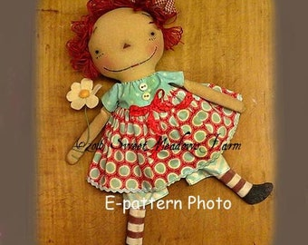 Sweet and Simple Raggedy Doll Pattern PDF