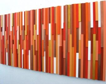 Orange Wall Art, Wood Wall Art, Wood Sculpture, Modern Decor, Home And Living, Home Decor, Modern Wall Art, Abstract Wall Art, Wood Art