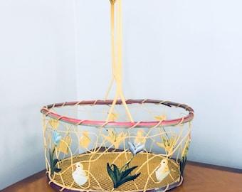 VINTAGE EASTER BASKET Easter Decorations Easter Decor Decorated Basket Easter Bunny Decor