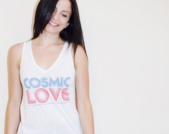 Cosmic Love Flowy V-Neck Tank