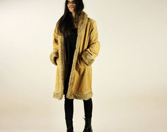 Faux Suede Shearling Penny Lane Coat