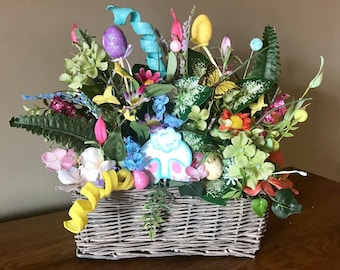 Easter table decor etsy easter centerpiece easter arrangement basket easter bunny arrangement easter table decor easter negle Choice Image